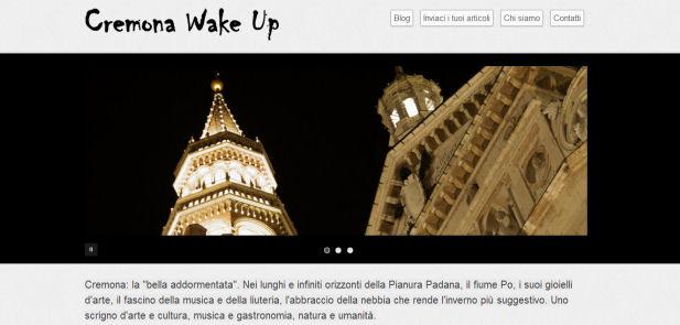Cremona WakeUp - Sviluppo sito web